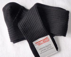 chaussette-laine-noire-homme-femme-longue